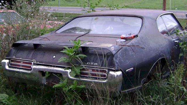 Black 1969 GTO Judge Hardtop - Junked Judge
